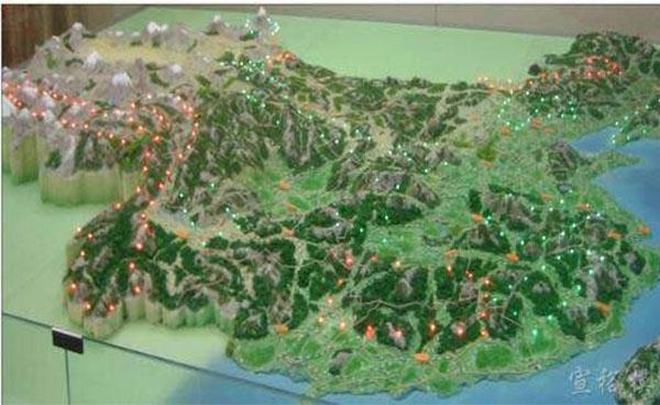 烟台地形桥梁模型